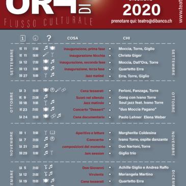 Programma Teatro di Banco 2020