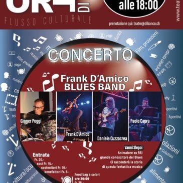 Domenica 8 Agosto:  Frank D'Amico Blues Band